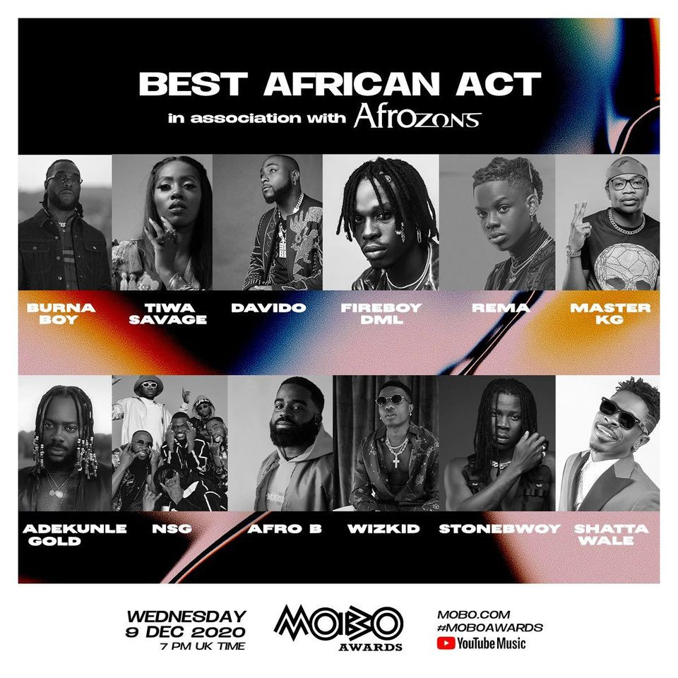Shatta Wale And Stonebwoy Nominated For 2020 MOBO Awards.